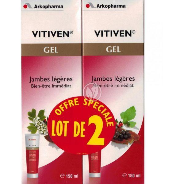 Vitiven Gel Jambes Légères 150mlX2 à prix discount| Arkopharma