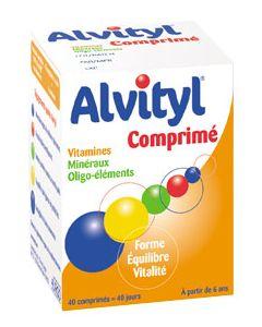 12 vitamines et 7 minéraux 40 comprimés moins cher  Alvityl